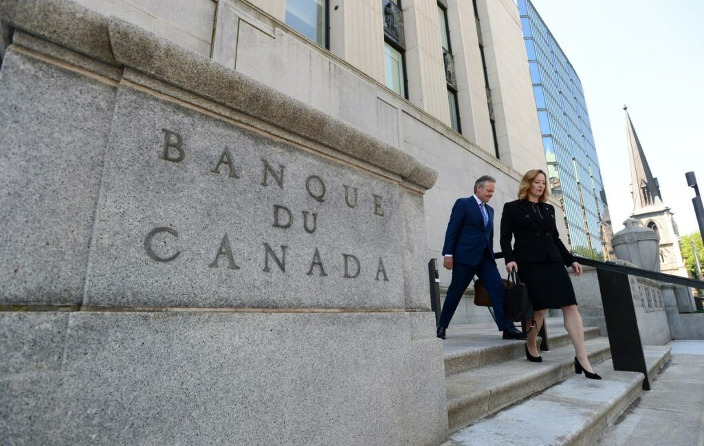 The Bank of Canada notes fourth-quarter growth was weaker than expected, largely due to higher imports, and that it's still assessing impacts on housing markets from new policies, including mortgage rules.